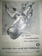 PUBLICITE DE PRESSE BUVEZ DU JUS DE POMME ILLUSTRATION ORDNER FRENCH AD 1961