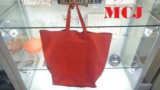 'Auth' CELINE Cabas Orange Shopping Tote Bag