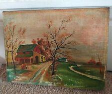 More details for vintage oil painting on canvas j fraser 8