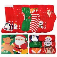 Kinder Socken 6er Pack Baumwolle Weihnachtssocken Lustige Santa Weihnachten