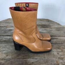 Tommy Hilfiger Womens Boots Brown Leather Sz 6.5 B M EU 37