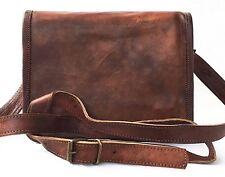 "New Women Vintage Brown Leather Messenger Cross Body Bag Handmade Purse 11"""