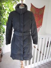"""Monsoon Grey Long Padded Belted Coat Size S """"Good Gentle Worn Condition""""."""