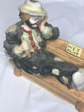 Emmett Kelly Jr Clown Wet Paint Bench Miniature Collection