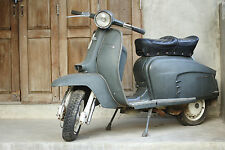 STUNNING CANVAS VINTAGE ITALIAN SCOOTER #838 MODS VESPA WALL HANGING PICTURE