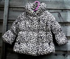 Baby Girls Thick Warm Lined Animal Print Padded Quilted Winter Coat 0-18 months
