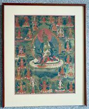 Fine Provenance Tibetan Thangka of Green Tara - 19th Century