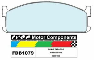 BRAKE PADS FDB1079 TO SUIT  Holden Shuttle 1982-1990