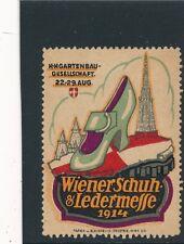 Vignette-Reklamemarke Wiener Schuh und Ledermesse 1914    (V1)