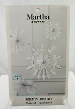 Martha Stewart White Paper Rosette Snowflakes Silver Accent Decor 30068368