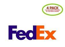 Fedex Sticker Vinyl Decal 4 Pack