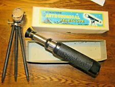 Vintage Miniature Astronomical Telescope. with Tripod  King Mfg. Japan MIB