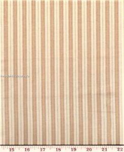 Dunroven House H-707D  Dijon ~ Cream Ticking  Homespun Fabric   ~ ~ You Pick
