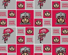 OHIO STATE COTTON FABRIC-OHIO STATE COTTON QUILTING FABRIC-NEWEST DESIGN-OHS021
