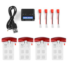 4pcs Lipo Battery 3.7V 500mAh with Charger Adapter for Syma X5UW RC Drone BC652