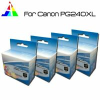 4 Pack PG 240XL Ink Cartridge Black Compatible For Canon Pixma MG and MX Series
