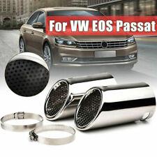 2x Car Rear Chrome Exhaust Tail Pipe Muffler Tip For VW EOS Passat B6 CC Estate