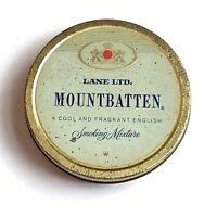 Vintage Mountbatten Lane Ltd Paper Label Tobacco Gold Toned Tin Empty W Germany