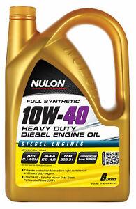 Nulon Full Synthetic Heavy Duty Diesel Engine Oil 10W40 6L SYND10W40-SIX