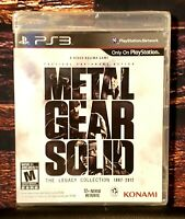 Metal Gear Solid - The Legacy Collection - PS3 - Sony Playstation 3 - Brand NEW
