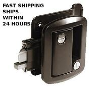 Black RV Entry - Entrance Door Lock w/deadbolt Camper Travel Trailer 5th Wheel