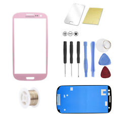 Samsung Galaxy S3 i9300 i9305 LTE Pink Glas Glass Scheibe Front TOUCHSCREEN SET