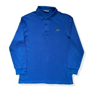 "Vintage LACOSTE Polo Shirt | Size 4 | Medium M | Blue Long Sleeve 40"" Chest"