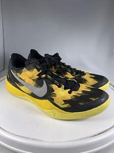 Nike Zoom Kobe 8 VIII Sulfur Electric Black Yellow Silver Sz 11.5 555035-001