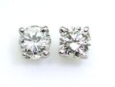 Gut geschliffene runde echte Diamant-Ohrschmuck