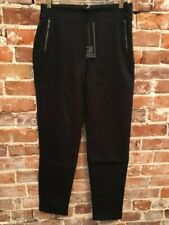 Marla Wynne Black Washed Twill Stretch Skinny Zipper Pants 16 NEW