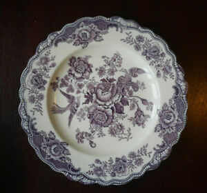 Crown Ducal Bristol Mauve / Purple Dinner plate several available