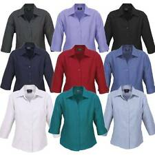 Ladies Oasis 3/4 Sleeve Shirt Healthcare Size 6-26 Nurse Care Top New LB3600