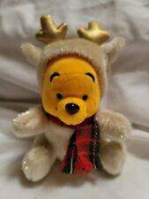 Japan Disney Pooh Tan Gold Reindeer glitter Christmas Bean Bag Plush beanie mbbp