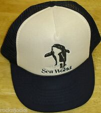 Sea World Vintage 90s Snapback hat (Mesh sides & Back) BRAND NEW Amusement Park