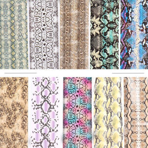 10 pcs Snake Skin Nail Foil Film Transfer Sticker Decals Manicure Design