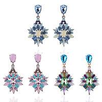 Boho Women Multicolor Crystal Rhinestone Drop Dangle Ear Stud Earrings Jewellery