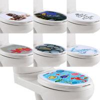 3D DIY Toilet Seat Wall Sticker Decals Vinyl Art Paper Removable Bathroom Decor