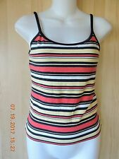 Nike women's 92% cotton 8%spandex multicolor stripes sport bra tank top size M
