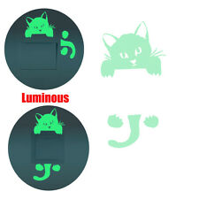 DIY Creative Kitten Cat Luminous Noctilucent Glow Switch Kids Room Wall Sticker