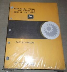 JOHN DEERE 624H LOADER TC62H TOOL CARRIER 624H LL PARTS MANUAL BOOK PC2628 NEW