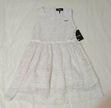 New DKNY Girls Sleveless White Lace Dress Size 5
