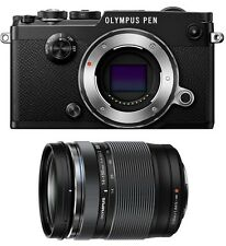 Olympus PEN-F Micro Four Thirds Digital Camera [Black] & Olympus 14-150mm Lens