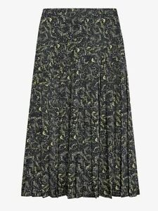 Ted Baker Deeana Knife Pleat Printed MIDI Skirt Currently Selling @ £150 Size 1