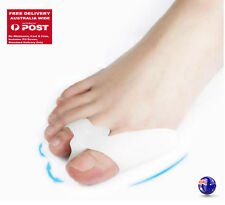 Pair Foot Toe Pain Relief Bunion Soft Silicone Gel Protector Separator Alignment