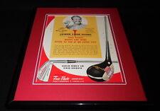 Jimmy Demaret 1959 First Flight Framed 11x14 ORIGINAL Vintage Advertisement