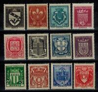(a58) timbres de France n° 526/537 neufs** année 1941