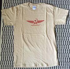 New AEROFLOT Russian Airlines Aviation Logo Men's T-Shirt Size S