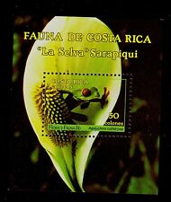 COSTA RICA   SCOTT#  385  MNH   FAUNA & FLORA TOPICAL SOUVENIR SHEET!