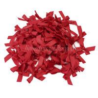 100pcs Red Satin Ribbon Bows Wedding Birthday Party Decoration DIY Craft Gift