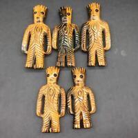 Natural Tiger Eye Quartz Crystal Carved Treeman Decoration Healing Reiki 1Pc